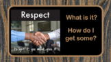Social Skills Respect Lesson - 7 Video / song links PBIS Character Ed PBIS