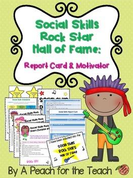 Social Skills Rock Star Hall of Fame {Social Skills Report