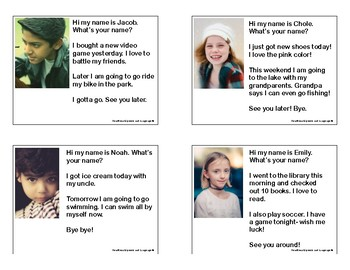Social Skills Role Play Cards