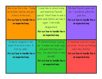 Social Skills: Role Play Cards