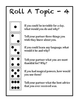 Social Skills - Roll a Topic