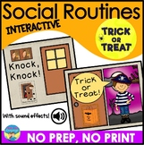 Social Skills Routines for Autism | Halloween Trick or Treat