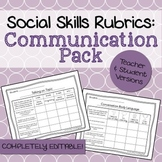 Social Skills Rubrics: Communication Pack