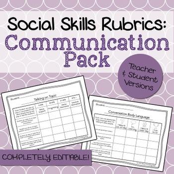 Social Skills Rubrics: Communication Pack