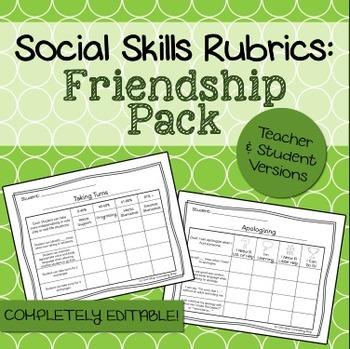 Social Skills Rubrics: Friendship Pack