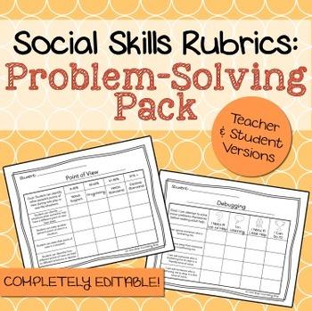 Social Skills Rubrics: Problem-Solving Pack