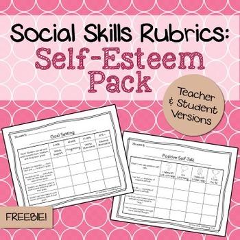 Social Skills Rubrics: Self-Esteem Pack Freebie by One-Stop ...