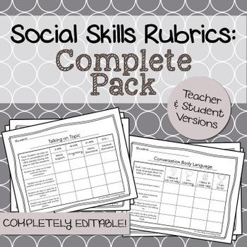 Social Skills Rubrics: Complete Bundle