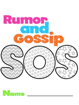 Bullying and Social Skills: Rumors & Gossip Booklet