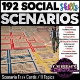 Social Skills Scenario Task Cards (160 Scenario Cards)