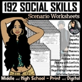 Social Skills Scenario Worksheets (160 Worksheets!)