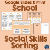 Social Skills Scenarios Sorting- School Themed