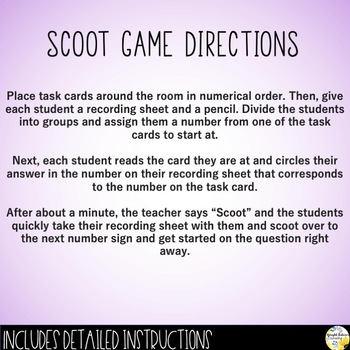 Social Skills Scoot Game