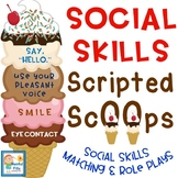 Social Skills Scripted Ice Cream Scoops Activity