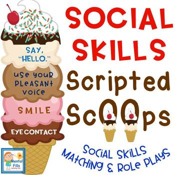 Social Skills Scripted Ice Cream Scoops Activity for Groups