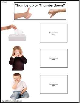 Social Story and File Folder Activity About Picking Your Nose