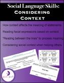 Social Language Skills: Considering Context