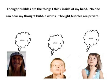Social Skills; Use your Thought Bubble