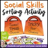 Social Skills Sorting Activity For Halloween