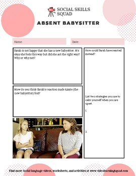 Social Skills Squad: Accepting Change -  Absent Babysitter