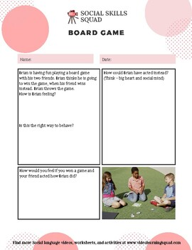 Social Skills Squad: Accepting Change - Board Game
