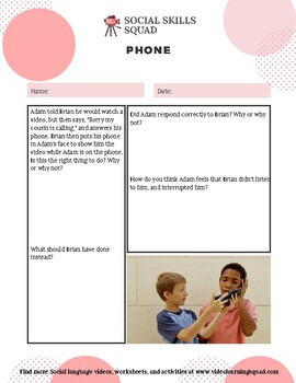 Social Skills Squad: Conversational Adaptation - Phone