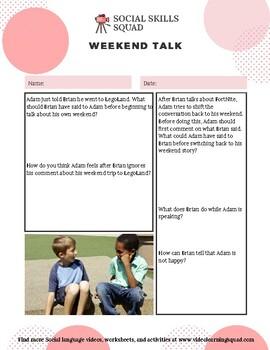 Social Skills Squad: Conversational Adaptation - Weekend Talk
