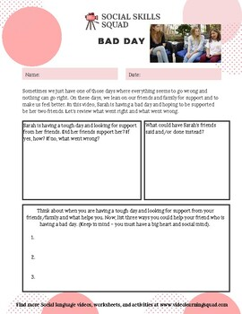 Social Skills Squad: Empathy - Bad Day