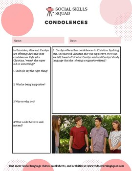 Social Skills Squad: Empathy - Condolences