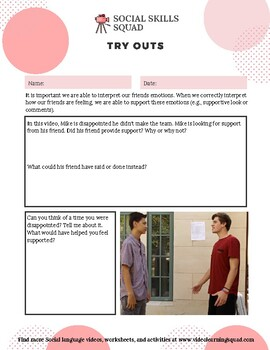 Social Skills Squad: Empathy - Try Outs