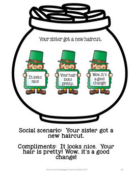 St. Patricks Day Social Skills Group Work