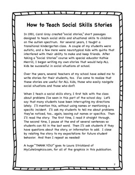 Social Skills Stories for First Grade