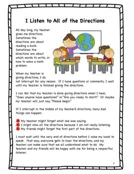 Social Skills Stories for First Grade