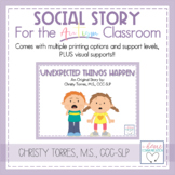 "Positive Behavior Social Story for Children w/ Autism ""Une"