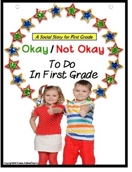 Social Skills Story & File Folder Game OKAY/NOT OKAY FIRST GRADE {Autism}