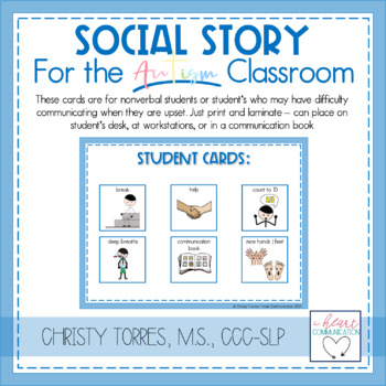 "Behavior Social Story ""Nice Hands"" for Children with Autism or Special Needs"