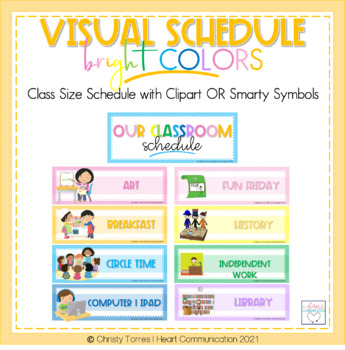 Social Story & Classroom/Student Schedule Template for Special Education