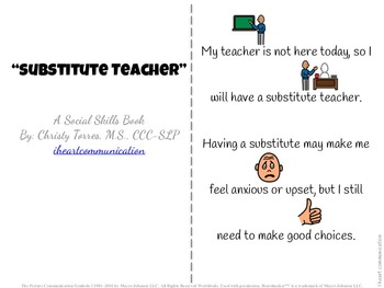 Positive Behavior Social Story for Children with Autism - Substitute Teacher