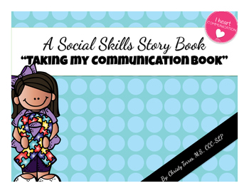 "Behavior Social Story for Children with Autism ""Taking My Communication Book"""