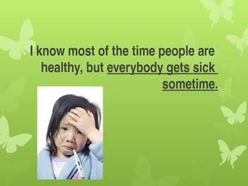 Social Skills Story- others sick
