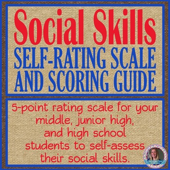 Social Skills Student Self-Rating Form with Scoring Guidelines