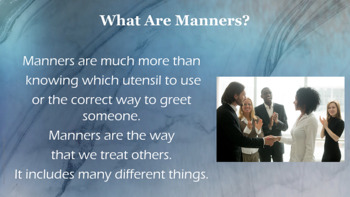 Social Skills- Table Manners –Respect Lesson -  9 Video links PBIS Character Ed