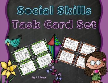Social Skills Task Card Set