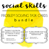 Social Skills Problem Solving Task Cards BUNDLE - Boys Gir