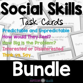 Social Skills Task Cards Bundle