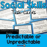 Predictable and Unpredictable Behaviors Task Cards *Distan