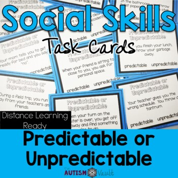 Social Skills Task Cards - Expected and Unexpected Behaviors