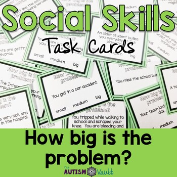 Social Skills Task Cards - Size of the Problem