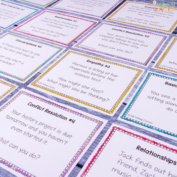 Social Skills Task Cards for Middle and High School