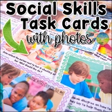 Social Skills Task Cards with Photos